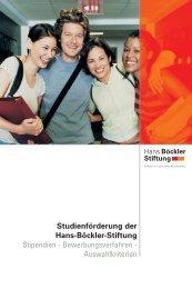 Studienförderung der Hans-Böckler-Stiftung ... - hib Freiburg