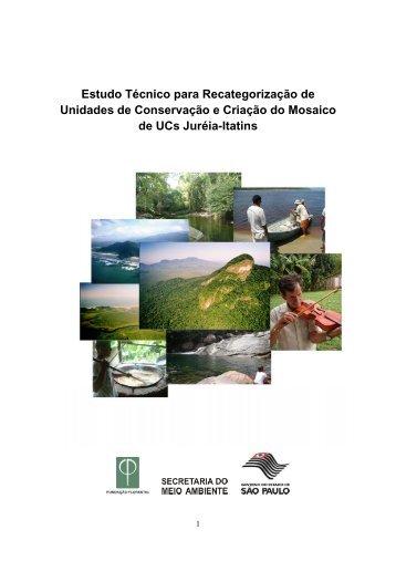 Estudo Técnico Mosaico-Jureia. - Fundação Florestal