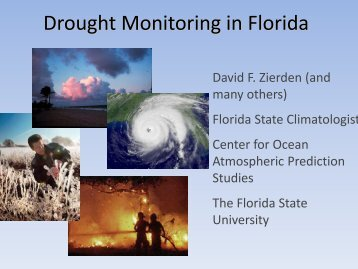 Drought Monitoring in Florida - National Drought Mitigation Center