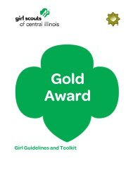 Gold Award Girl Guidelines and Toolkit - Girl Scouts of Central Illinois