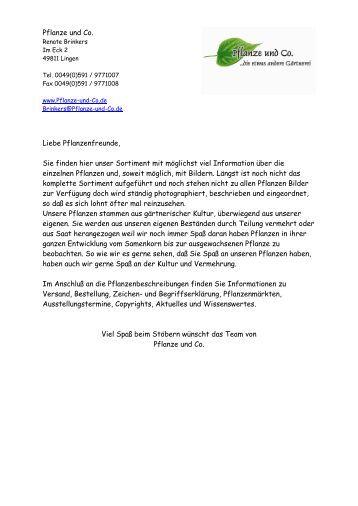 Pflanze-und-Co. Katalog 2012.