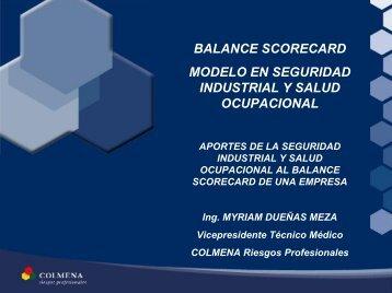 Gestión: Balanced Scorecard Model en Seguridad Industrial y Salud ...