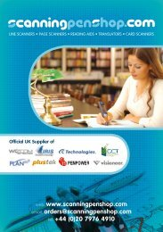 Catalogue - Scanning Pens Ltd.