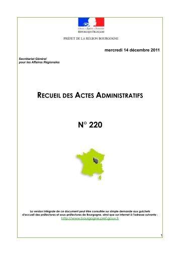 RAA 220 - Préfecture de la Côte-d'Or