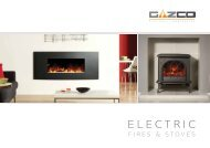 Electric Fires & Stoves brochure - Brochures - Stovax & Gazco