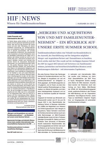 Den gesamten Newsletter HIF News - Esche Schümann Commichau
