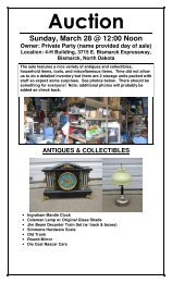 Sunday, March 28 @ 12:00 Noon - North Star Auction & Appraisal
