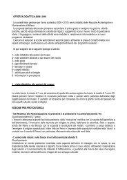 OFFERTA DIDATTICA 2009 - Castello Sforzesco
