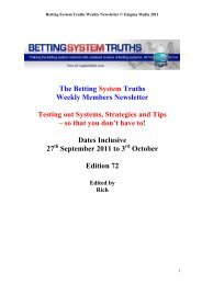 Total Football Trading - Betting System Truths