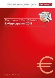 Dachsteine & DachZubehör Lieferprogramm 2011 - Bramac
