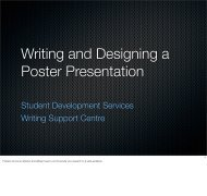 Writing and Designing a Poster Presentation - Student Development ...