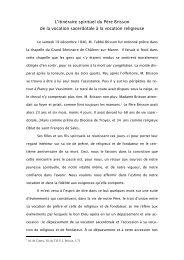 L'itinéraire spirituel du Père Brisson - Franz Sales Verlag
