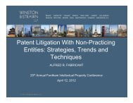 Patent Litigation With Non-Practicing Entities - Fordham IP Conference