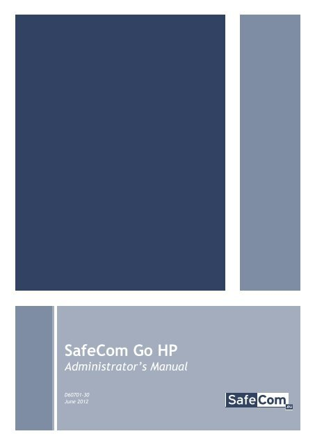 SafeCom Go HP Administrator's Manual D60701