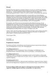 Förord Projektnivåer inom KC - Stockholms Läns Sjukvårdsområde