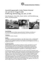 Ausstellungsprojekt: Unter freiem Himmel 30. Juni ... - Formdesign.de
