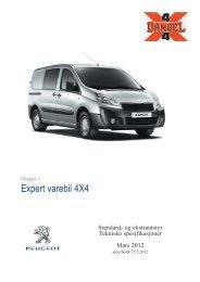 Expert varebil 4X4 - Peugeot