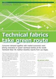 Technical fabrics take green route - FabricLink