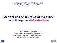 Ulf Dahlsten - e-Infrastructure Reflection Group