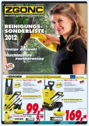 Reinigungssonderliste 2012