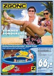Sommersonderliste 2012