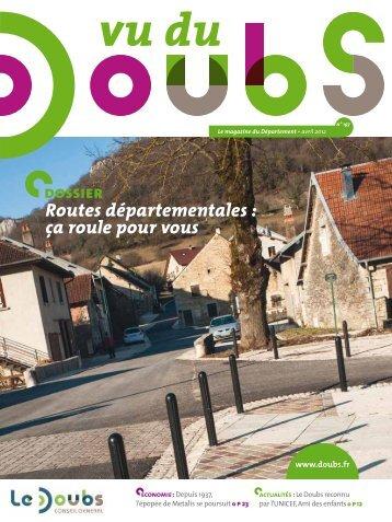 dossier Routes départementales : ça roule pour vous - Vu du Doubs ...