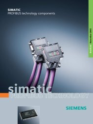 SIMATIC PROFIBUS technology components - Siemens Industry, Inc.
