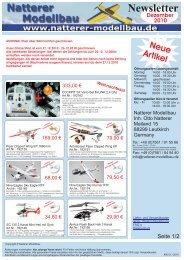 Newsletter - Natterer Modellbau