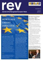 Journal of the Recognised European Valurer . July 2013 ... - TEGoVA