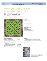 FREE pattern for a bright throw size version of this ... - McCalls Quilting