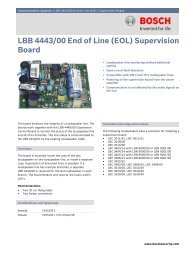 LBB 4443/00 End of Line (EOL) Supervision Board - Bosch