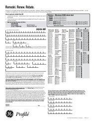 Remodel. Renew. Rebate. - GE Appliances