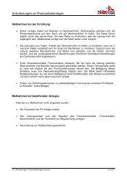 Anforderungen an Photov voltaikanlagen - bei der AEE Salzburg