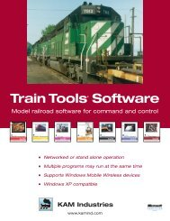 KAM's 2005 Model Railroad Product Brochure