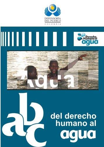 abc derecho humano al agua - Defensoría del Pueblo