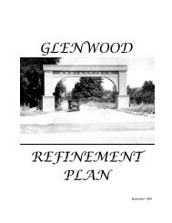 GLENWOOD REFINEMENT PLAN - City of Springfield
