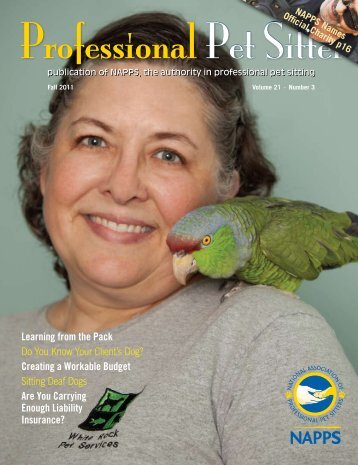 Fall 2011 - National Association of Professional Pet Sitters