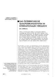 das österreichische qualifizierungssystem im internationalen ... - Wifo