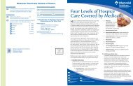 Four Levels of Hospice Care Covered by - Memorial Healthcare