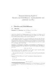 Zusammenfassung Kapitel 3: Theorien und Modellklassen ...
