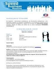 12. Február 2013, 15 Uhr 00 – 18 Uhr 00 Hotel Park Inn Danube