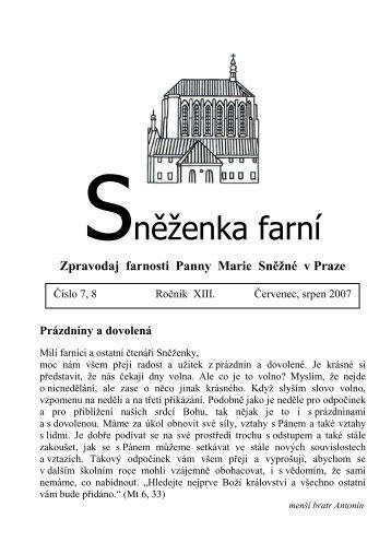 Červenec, srpen - Farnost Panny Marie Sněžné v Praze