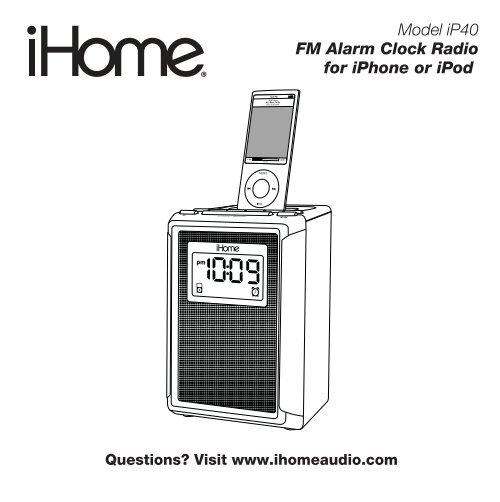 Setting Ihome Alarm Clock