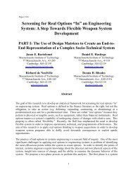 """Screening for Real Options """"In"""" an Engineering System: A Step ... - MIT"""