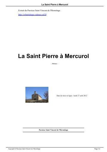 La Saint Pierre à Mercurol - Paroisse Saint Vincent de l'Hermitage