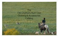 OCHC - Old Chatham Hunt Club