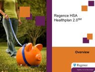 Regence HSA Healthplan 2.0 Medical & Rx Product (PDF)