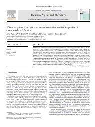 Effects of gamma and electron beam irradiation on the properties of ...
