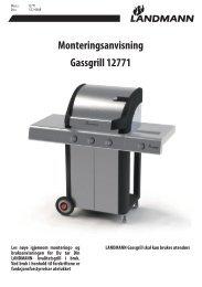 Monteringsanvisning Gassgrill 12771