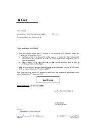 Tarifs des Audiciens – A partir du 01/12/2012 - Inami